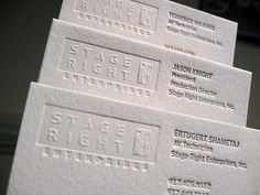 business card letterpress