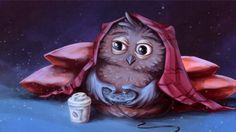 Owl Gamer by Kaprizoly