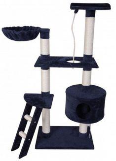 Hochwertiger Kratzbaum aus katzenfreundlichem Material in blau, 150 cm hoch. Verschiedene Ebenen und Schlupflöcher. Heute bestellt - morgen geliefert! Toilet Paper, Material, Cat Cat, Acre, Blue