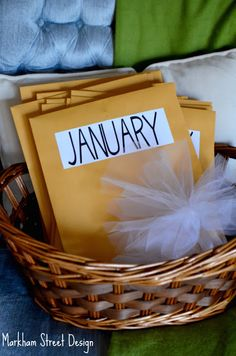 Pre-Planned Date Ideas Basket. (Great Christmas gift for other half ♥)