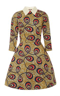 Nilde Printed Waxed-Cotton Mini Dress by Stella Jean Now Available on Moda Operandi - African Fashion Dresses African Dresses For Women, African Print Dresses, African Attire, African Wear, African Fashion Dresses, African Women, African Outfits, African Prints, African Inspired Fashion