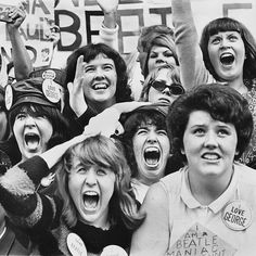 There were girls girls and more girls. Whistling girls. Screaming girls. Singing girls the @nytimes wrote of @thebeatless arrival at Kennedy International Airport 52 years ago this month. The @nytimes article continued speculating that the rock n roll group  which was greeted at #JFK by more than 3000 fans  could become Britains most successful export since the bowler. The @nytimes staff photographer Carl T. Gossett Jr. photographed this group of #Beatlemaniacs in hysterics across the street…