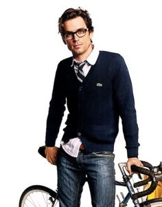glasses. cardigan.. Attractive men that wear both Pretty sure this is Matt Bomber