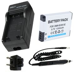 Battery +Charger for Panasonic Lumix DMC-LZ40, DMC-TS5, DMC-TS6, DMC-ZS30, DMC-ZS35, DMC-ZS40, DMC-ZS45, DMC-ZS50 Digital Camera