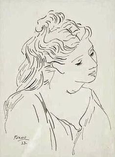 Portrait of Robi by the Spanish artist Pablo Picasso (1881-1973) - Richmond Art Museum (USA) - 1922