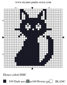 cat hama perler pattern - it's the cat from Kiki's Delivery Service!!!