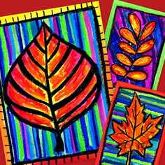 Autumn Art Activity and Lesson Plan for Kids: Autumn Leaves Art Lessons For Kids, Art For Kids, Fall Arts And Crafts, Kindergarten Art Projects, Warm And Cool Colors, 6th Grade Art, Pumpkin Art, Work Harder, Middle School Art