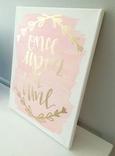 Once upon a time 11x14 canvas sign wedding decor by ADEprints …