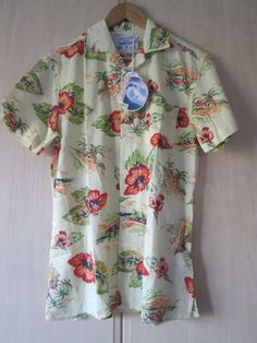 mens 100% pure cotton HAWAIIAN SHIRT size MEDIUM NEW WITH ORIGINAL TAGS