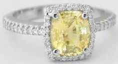 Natural Yellow Sapphire Engagement Ring