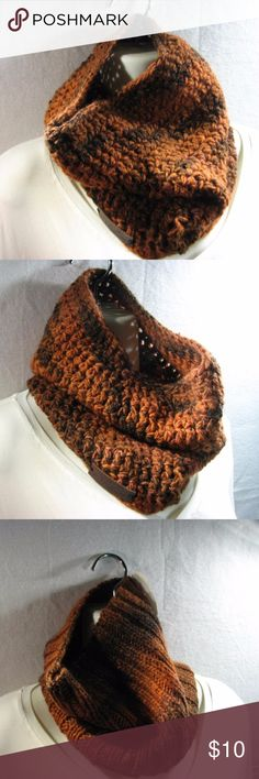 Handmade Multicolored Crocheted Snood/Scarf Beautiful Handmade Crocheted Snood/Scarf 11-inches length 20-inches width Pre-Stretched Great for Winter Accessories Scarves & Wraps
