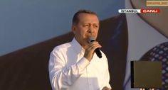 Başbakan Erdoğan istanbul mitingi 3 ağustos 2014