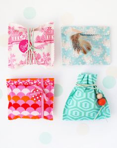 Make Me: Fabric Gift Bags http://decor8blog.com/2013/05/28/make-me-fabric-gift-bags/