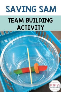"""Looking for a great back to school team-building activity for your students? Saving Sam is great for team-building and problem solving with your students! It's easy to differentiate by grades and inexpensive. Read more in my post """"5 Team Building Activities in the Middle School Classroom Students Love!"""" Middle School Classroom, Middle School Science, Stem Teaching, Teaching Ideas, Trust Building Activities, Get To Know You Activities, Saving Sam, Beginning Of The School Year, New Teachers"""