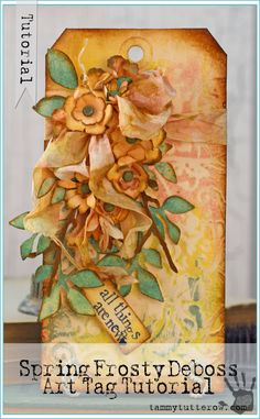 Tammy Tutterow Tutorial | Spring Frosty Deboss and a Mini Distress Ink Giveaway!