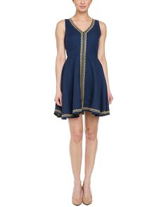Spotted this Julie Brown Fauna Navy & Gold Linen Embroidered Dress on Rue La La. Shop (quickly!).