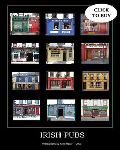 Pubs of Ireland Poster Ireland Pubs Poster Poster On, Poster Prints, Ireland Pubs, British Pub, Guinness, Prints For Sale, Irish, Finding Yourself, Design Inspiration