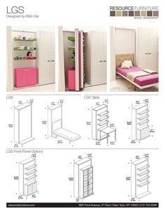 The LGS is a vertically opening murphy bed system that rotates 180 degrees to reveal a space saving twin wall bed. Smart Furniture, Space Saving Furniture, Furniture For Small Spaces, Furniture Design, Furniture Ideas, Rustic Furniture, Murphy Furniture, Space Saving Beds, Victorian Furniture