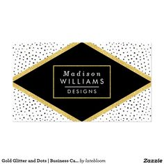 chic hello orange watercolor business card 2 gold glitter and dots business card in black