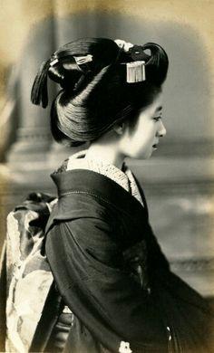 1920年、大正時代の舞妓