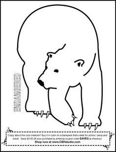 polar bear outline – Item 3   Vector Magz   Free Download Vector ...