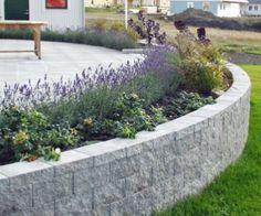 Stödmur i granitimitation (ex. Keystone Garden Wall grå) 1078kr per m2