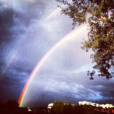@liamestevens #doublerainbowawesome #rainbow #rain (Taken with instagram)