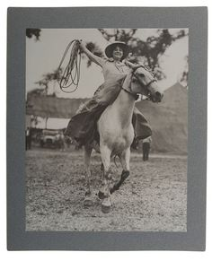 Large Format Photograph of a Cowgirl (1/31/2014 - William F. Cody: Live Salesroom Auction)