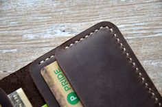 Mens Wallet, Leather Wallet, Card Wallet, Womens Wallet, Minimalist Wallet, Wallets for men, handmade wallets, mens custom, custom wallets This card wallet is handmade and hand-stitched.