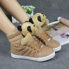 Section should star teddy bears special winter shoes plush shoes panda shoes Cartoon shoes high shoes