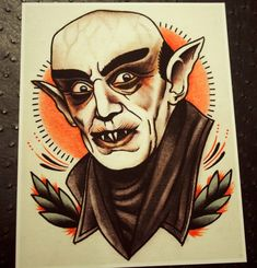 Horror movies characters in tattoo style by Quyen Dinh