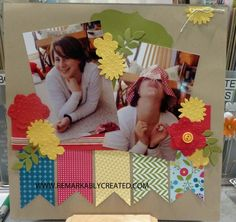 Stampin' Up! Scrapbook Layout  by Janet W at RemARKable Creations: 2013 Spring Catalog Secret Garden Framelits