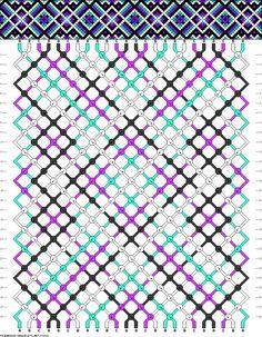 Muster # 70322, Streicher: 24 Zeilen: 28 Farben: 4