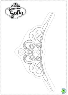 1000 images about coloring pages on pinterest frozen for Sofia the first crown template