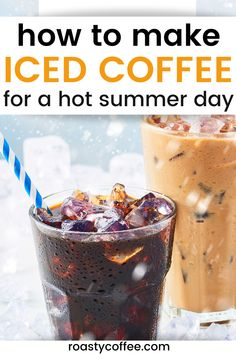 Make delicious iced coffee, perfect for a hot summer day, at home. It's easy, and we'll show you how! #coffee Iced Tea Maker, Iced Coffee At Home, How To Make Ice Coffee, Coffee Recipes, Breakfast, Collections, Hot, Summer, Beautiful