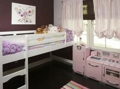 Toddler Girl Room - Love the raised bed, would like to build a fort underneath