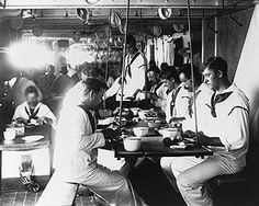 Battle Ship USS Olympia Sailors Mess Hall Photo Print for Sale