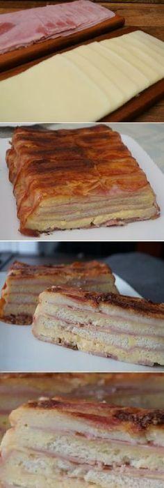 Pan de molde con jamón, queso y bacon. #food #jamón #queso #bacon #panfrances #pantone #panes #pantone #pan #receta #recipe #casero #torta #tartas #pastel #nestlecocina #bizcocho #bizcochuelo #tasty #cocina #chocolate Encenderemos el horno a 180ºC . Preparamos un molde para horno, empezaremos forrando el molde con las lon... Appetizer Recipes, Snack Recipes, Dessert Recipes, Snacks, Appetizers, Cuban Recipes, Pork Recipes, Chocolate Yogurt, Mexican Dishes