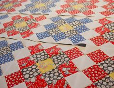 granny quilt blocks using Adventures with Alice (Kaufman)