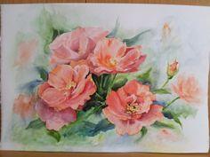 Rosas anaranjadas