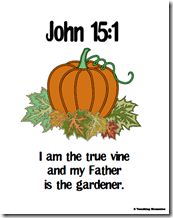 Bible verse to go with pumpkin unit