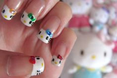 Hello Kitty manicures