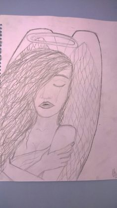 Angels crying/sad /sketch /drawing /feeling /my work /made by El.
