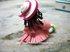 Quilled doll