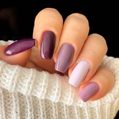 Perfect Nails, Gorgeous Nails, Stylish Nails, Trendy Nails, Ongles Gel Violet, Violet Nails, Nail Manicure, Gel Nails, Nails Ideias
