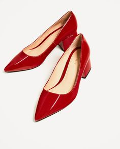 b1281759b79a99 WIDE MEDIUM HEEL SHOES - Available in more colours Red Colour Shoes