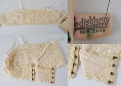 Vintage 1920s 1930s Lace Brassier Bra by by alleycatsvintage