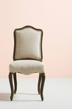 Slide View: 1: Linen Beatrix Dining Chair