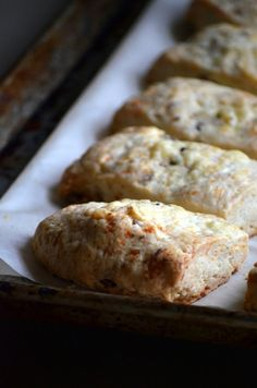 Bacon cheddar scones, recipe from Thomas Keller's Bouchon Bakery book, via Cream Puffs in Venice.