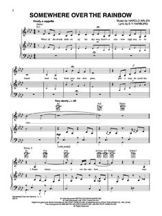 somewhere over the rainbow chords piano pdf